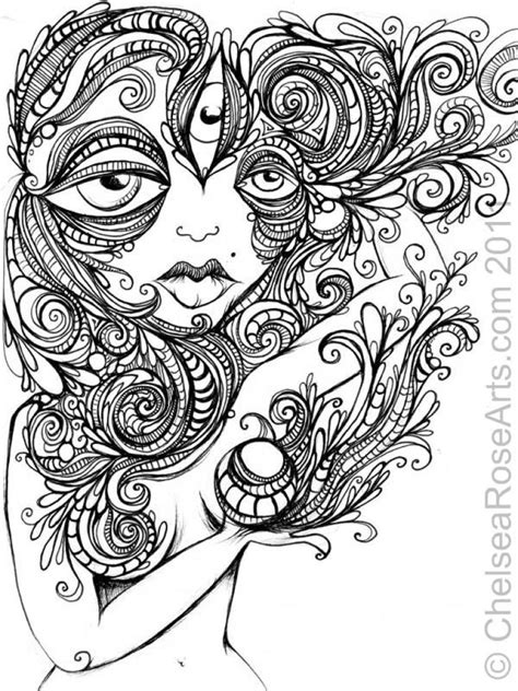 challenging coloring pages for adults challenging trippy coloring page free for adults