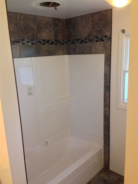 installing bathroom tile around tub want to dress up that empty space above your shower or tub