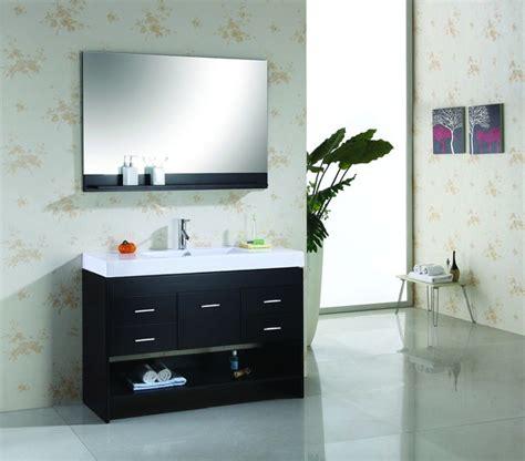 Modern Single Sink Bathroom Vanities by Virtu Usa 48 Quot Gloria Espresso Single Sink Bathroom