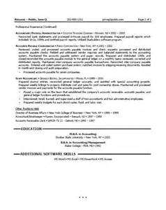 staff accountant resume sle resume for accountants
