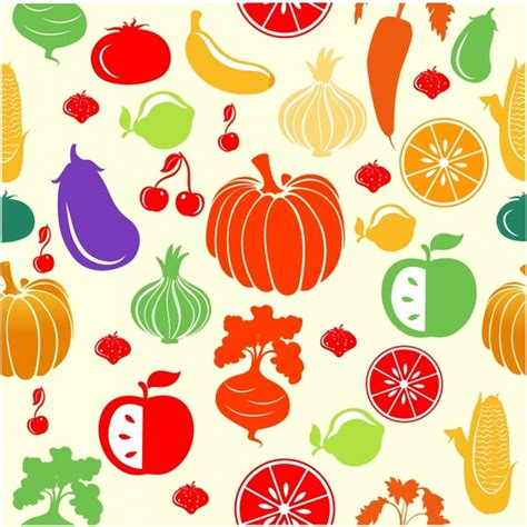 vegetables pattern wallpaper fruit and vegetable pattern free vector in adobe