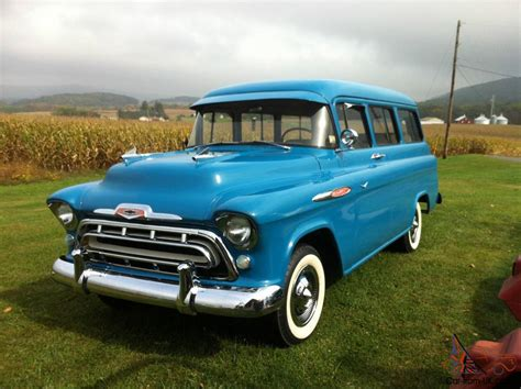 1957 Chevy Suburban By 1957 chevrolet suburban carry all truck chevy 27 950