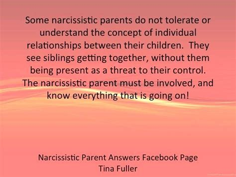 tina cbell is a narcissist some narcissistic parents do not tolerate or understand