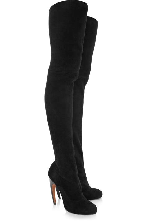 ala 239 a suede thigh boots in black lyst