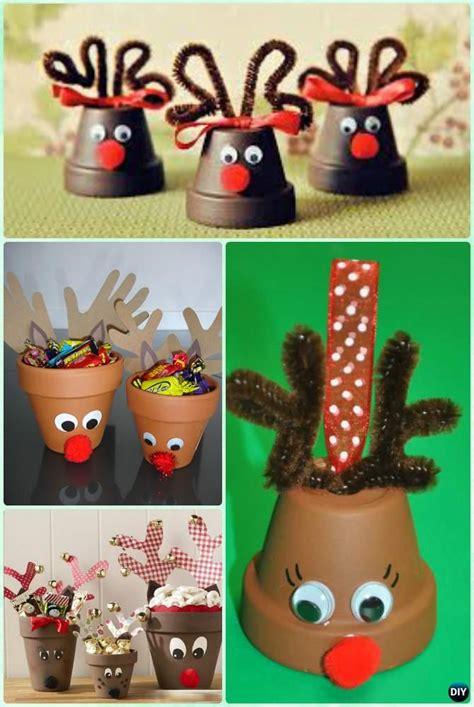 diy projects christmas diy terra cotta clay pot craft ideas