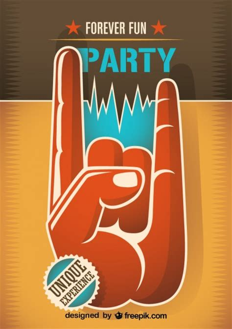 imagenes retro de musica poster para fiesta de m 250 sica retro descargar vectores gratis