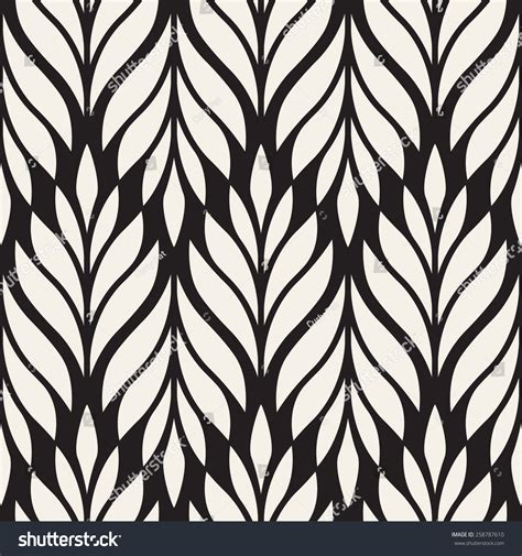 leaf pattern geometric vector seamless pattern monochrome ornament with stylized