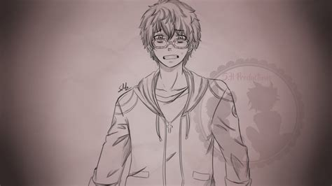 sketchbook grey paper mystic messenger 707 by shizukahanari on deviantart