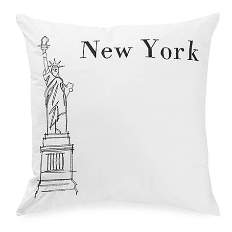 black throw pillows bed bath and beyond passport postcard new york square throw pillow in black