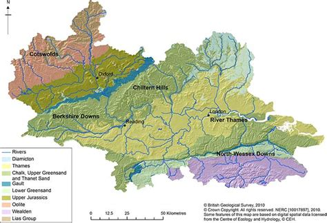 river thames catchment area map integrated surface water groundwater modelling of the