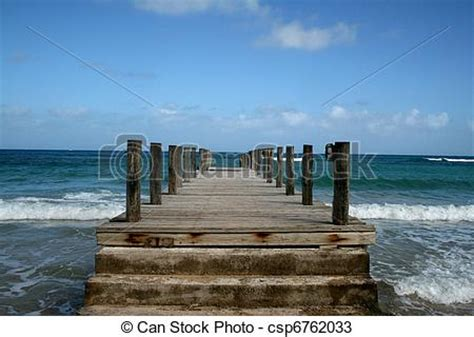 wood dock   caribbean  weathered wooden