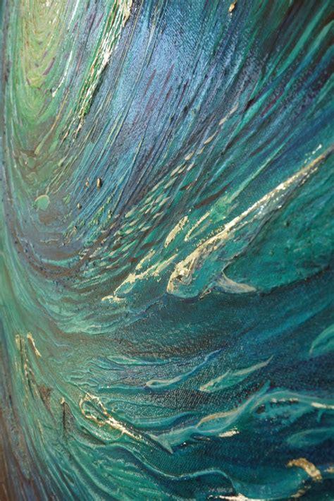 undersea sun swirl abstract original painting deep