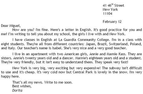 la carta formal e informal en ingles ejemplo de carta informal en ingl 233 s ejemplos de