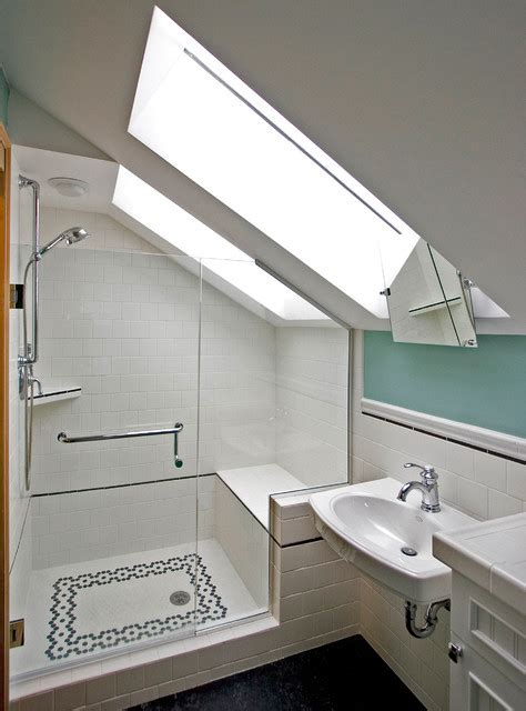 Modern Bathroom Brands Prior Attic Space Becomes This Brand New Bathroom