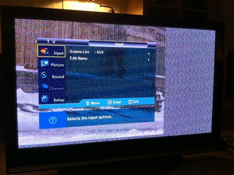 vertical section of tv samsung hps5053x xaa tv image is defective snow first