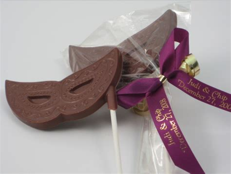 Chocolate Giveaways - chocolate masquerade masks favors