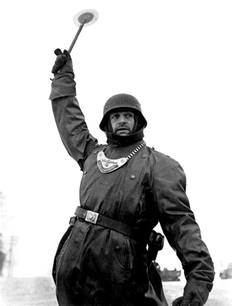 A German Wehrmacht soldier of the Feldgendarmerie