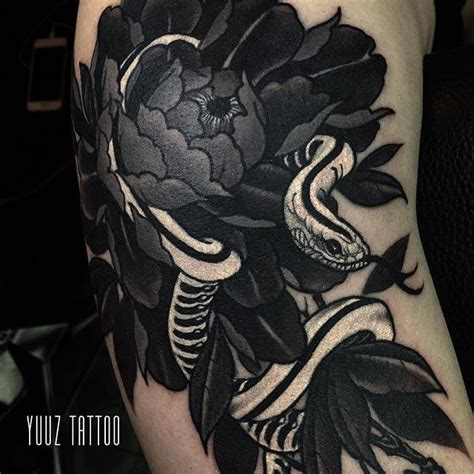 japanese snake tattoo black and grey collection of 25 best grey ink japanese snake with flower