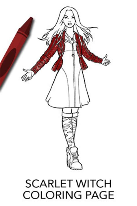 coloring pages scarlet witch avengers scarlet witch coloring page disney movies