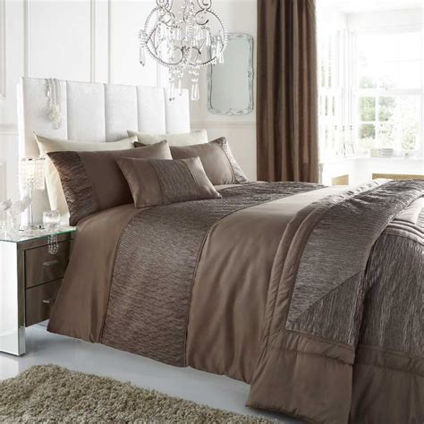 Taupe Duvet Stylish Sahara Faux Silk Bedding Sets Amp Matching