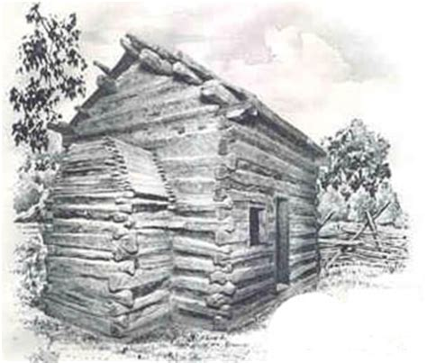 cabin sketch abraham lincoln birthplace national historic site living