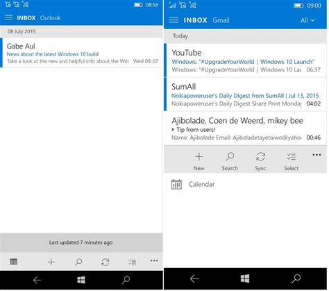 outlook mobile email windows 10 mobile outlook mail photos apps