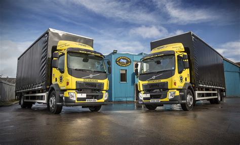 volvo fl  gvw rigids join caledonian logistics fleet trucks uk haulier