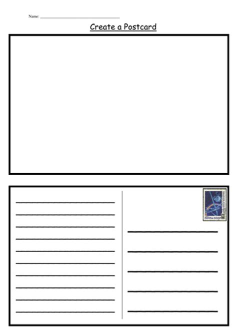 card insert template ks1 postcard template by kategc teaching resources tes