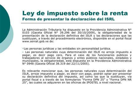 ley de impuesto sobre la renta isrl slideshare share the knownledge ley de impuesto sobre la renta isrl