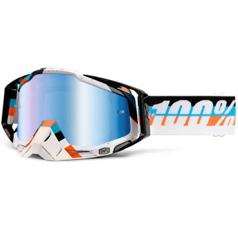100 percent motocross goggles 100 percent mx racecraft max martini mirror lens