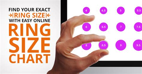 ring size chart determine  ring size