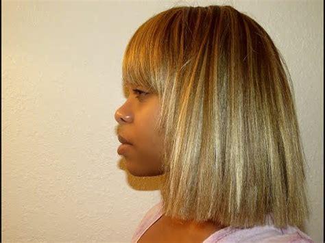 blunt cut o techniques wiki diy blonde wig transformation blunt cut w chinese bangs
