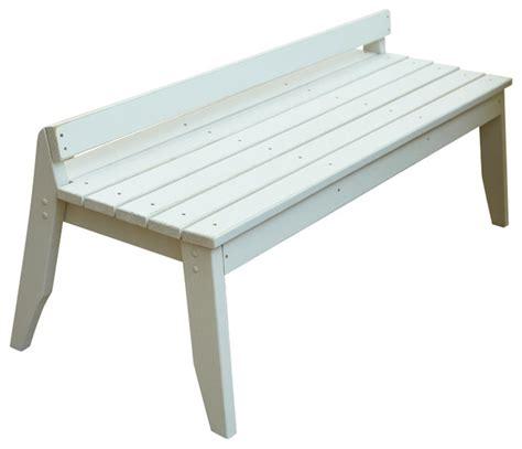 garden bench no back plaza 3 seat bench no back natural traditional