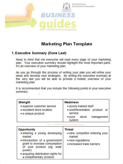 14 Sle Marketing Plan Templates Sle Templates Business Marketing Plan Template Word