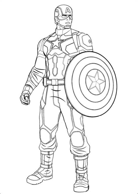 captain america coloring page  printable coloring