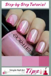 pink striped nail art manicure tutorial simple nail art tips