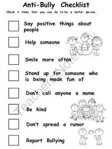 anti bullying checklist committee pinterest stop