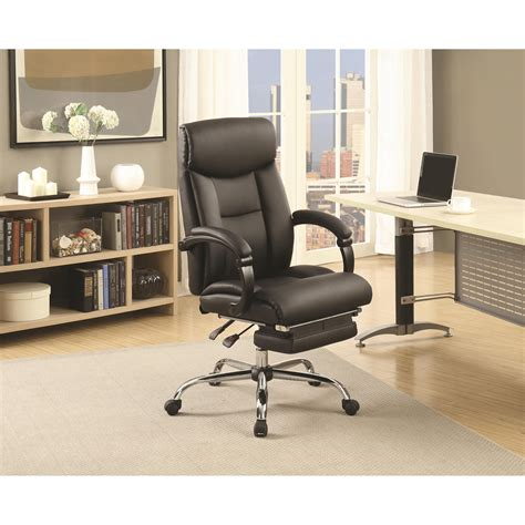 coaster office furniture coaster office chairs black adjustable office chair