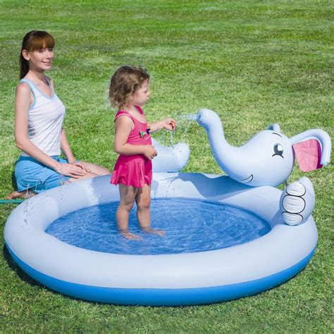 Interactive Elephant Play Pool interactive elephant play pool paddling pools