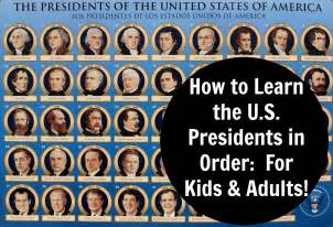 how to learn the united states presidents in order for
