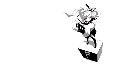 imagenes anime black and white anime white sword katana wallpaper 2560x1440 78560