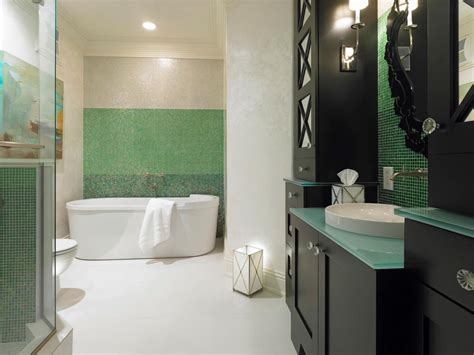 green and black bathroom 5 fresh bathroom colors to try in 2017 hgtv s decorating