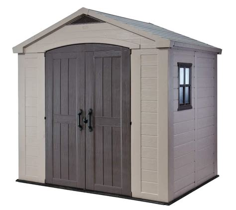 Resin Storage Sheds Keter Factor 8 X 6 Shed 1 478 00 Landera Outdoor