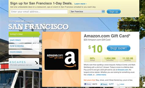 Amazon Gift Card Api - livingsocial hits a million amazon gift cards sold 20 million in card value techcrunch