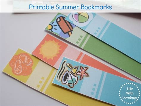 printable summer bookmarks printable summer bookmarks life with lovebugs