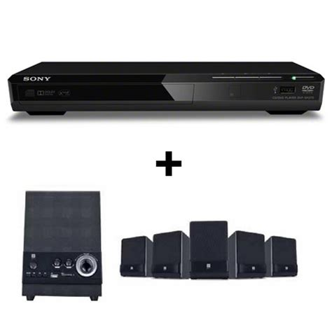 Sony Dvd Player Dvp Sr370 buy combo of sony dvp sr370 dvd player iball dhwani 5 1 multimedia speaker black at