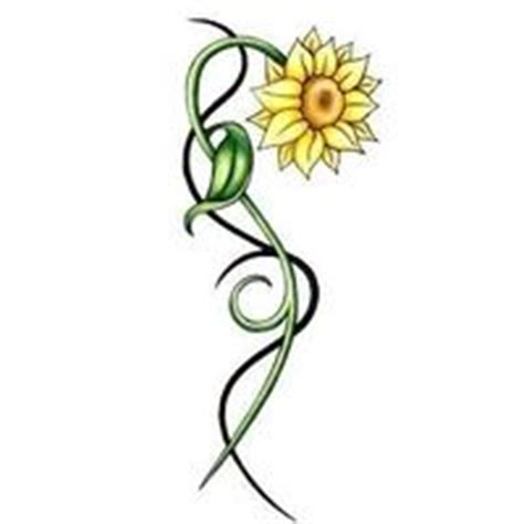 sunflower vine tattoo designs sunflower tribal images this is symbolic