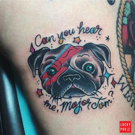 color pug tattoos on legs part 2 pug tattoo gallery