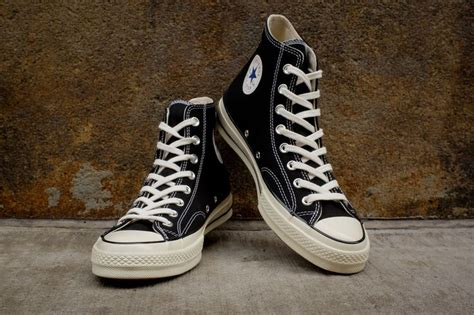 Converse Ct Hi 70s 1970s Original Black White converse chuck all hi 1970 black white nyc black and sneakers