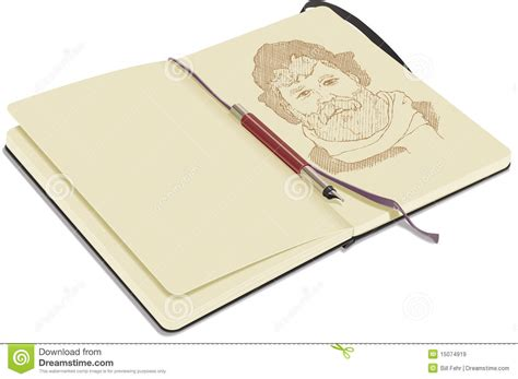 sketchbook and pen open sketchbook with pen royalty free stock images image